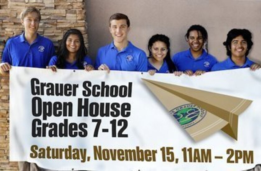 The Grauer School is hosting an open house on Nov. 15. An independent college preparatory school, Grauer teachers use the Socratic model, encouraging questions.