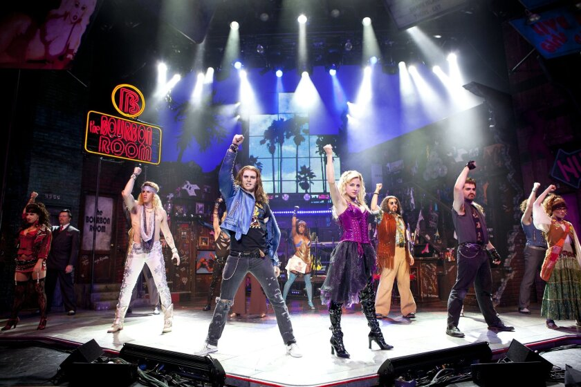 "Dominique Scott and Shannon Mullen lead the touring cast of ""Rock of Ages."""