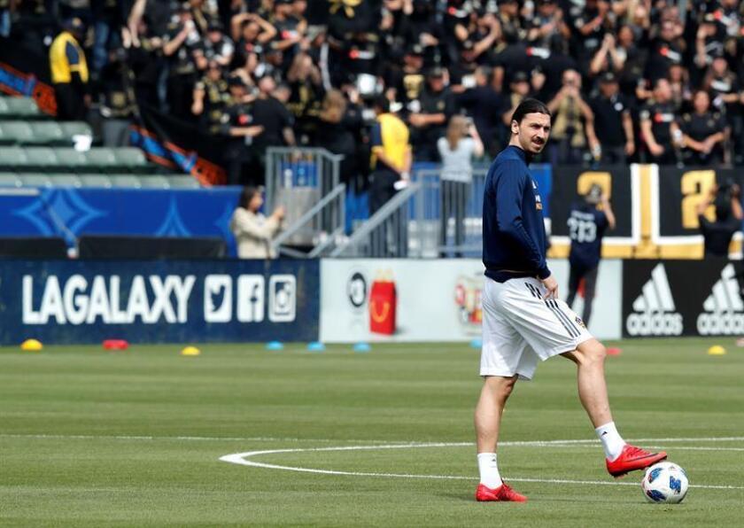 Zlatan Ibrahimoviæ, jugador del Galaxy de Los Ángeles. EFE/Archivo