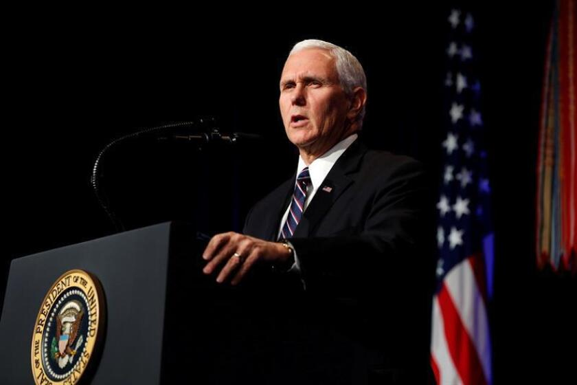 El vicepresidente estadounidense, Mike Pence. EFE/ POOL/Archivo