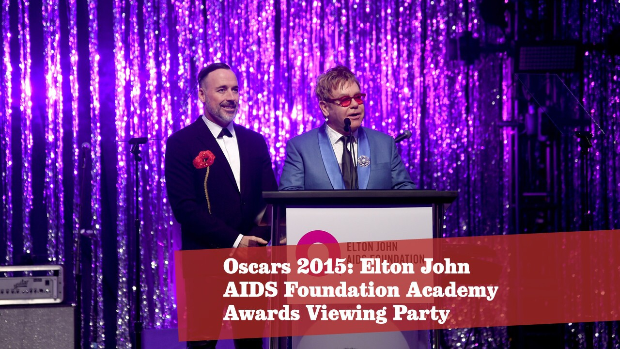 Oscars 2015: Elton John's viewing party