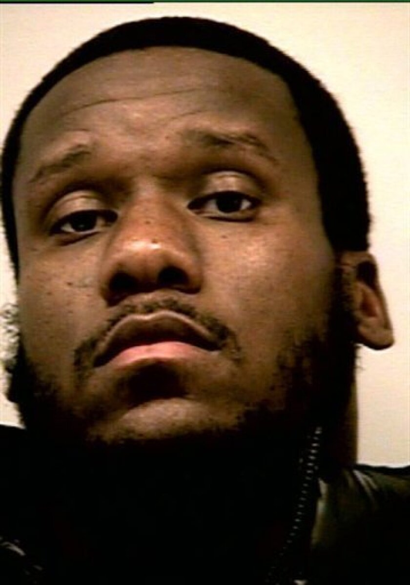 A police photo provided by the Gwinnett County Police Dept. shows Atlanta Falcons defensive tackle Jonathan Babineaux. Babineaux has been arrested and charged with marijuana possession. Gwinnett County Police Cpl. David Schiralli says Babineaux was arrested during a traffic stop on Interstate 85 in suburban Atlanta around 10:45 p.m. Thursday, Dec. 10, 2009. (AP Photo/Gwinnett County Police Dept.)