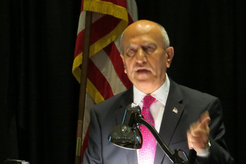 Escondido Mayor Sam Abed delivers his State of the City address Wednesday morning.