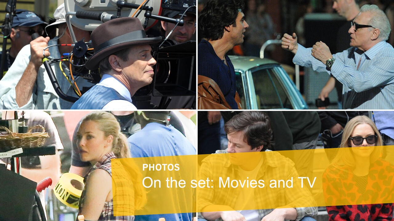 On the set: Movies and TV