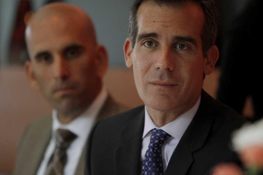 Los Angeles Mayor Eric Garcetti, shown at a June event, supports efforts to raise emergency funds for nonprofits assisting newly arrived unaccompanied minors from Central America.