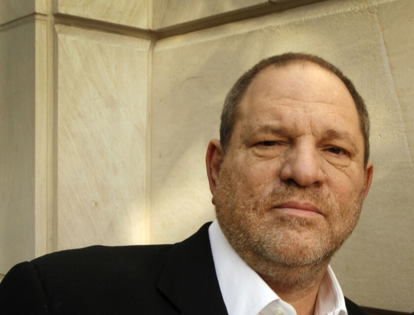 "Harvey Weinstein, shown in 2012, has taken issue with a New York Post columnist's take on the musical ""Finding Neverland."""