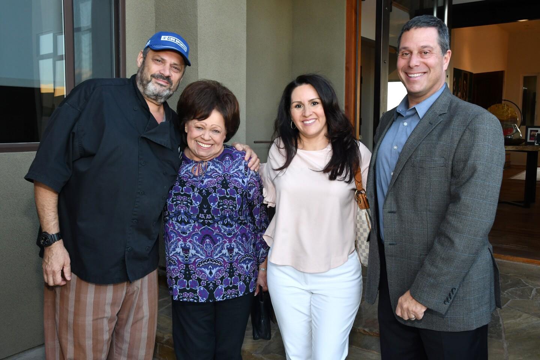 Jeffrey Strauss (host), Sandy Burr (Fur Ball sponsor), Yvette Snyder (Fur Ball sponsor), Dr. Gary Weitzman (SDHS president)
