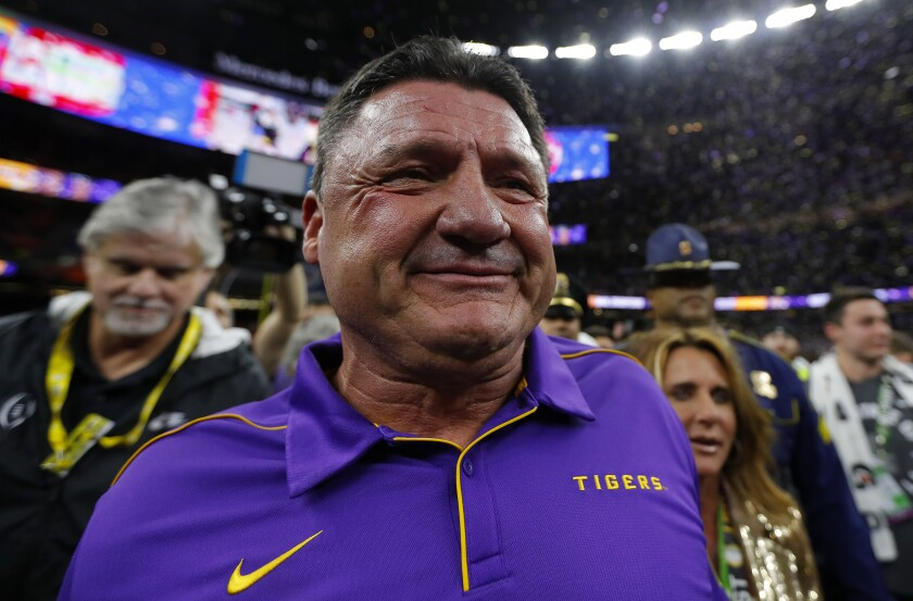 Ed Orgeron is getting a seven-year contract extension after leading the LSU Tigers to a 15-0 record and a national championship.