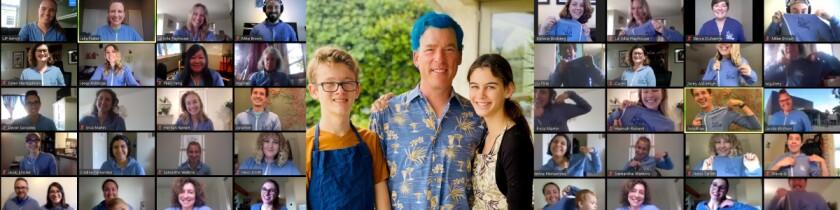 Randy Clark - blue hair
