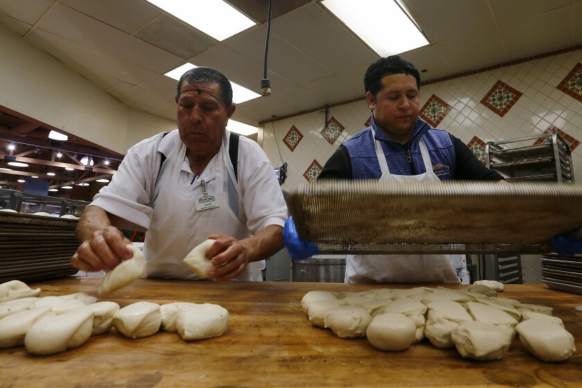 Bakers prepare the daily bread at Northgate