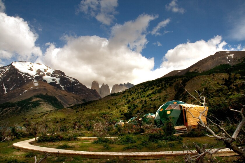 EcoCamp Patagonia, in Torres del Paine National Park, is known for its views and comfortable lodging in geodesic domes.