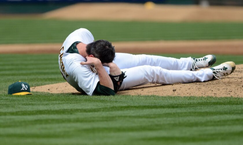 Doctor says A's pitcher Brandon McCarthy could have died from injury