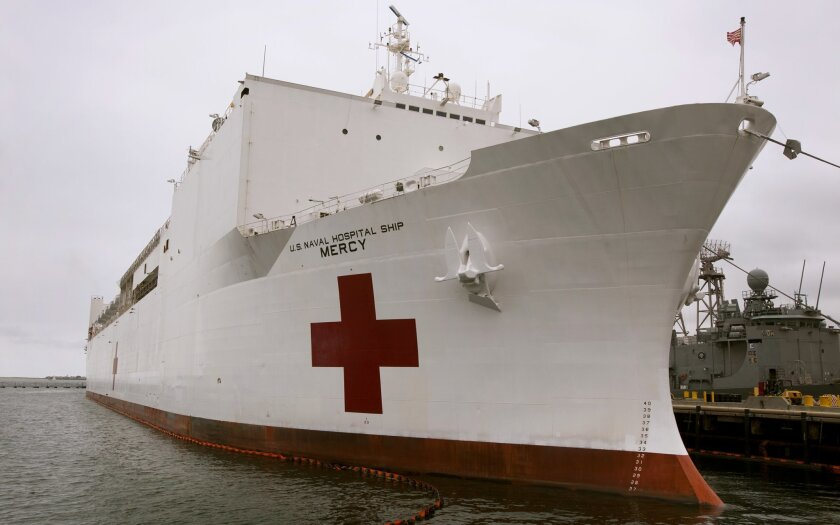 Navy hospital ship, USNS Mercy will deploy to support areas affected by the coronavirus pandemic.