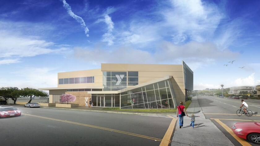 "On the Horizon: A new Beach & Bay Family YMCA being planned for 4606 Ingraham St., may look like this architect's rendering when complete. The goal is to raise $17 million for the project. See ""New director takes the helm at Beach & Bay Family Y"" for the whole story."