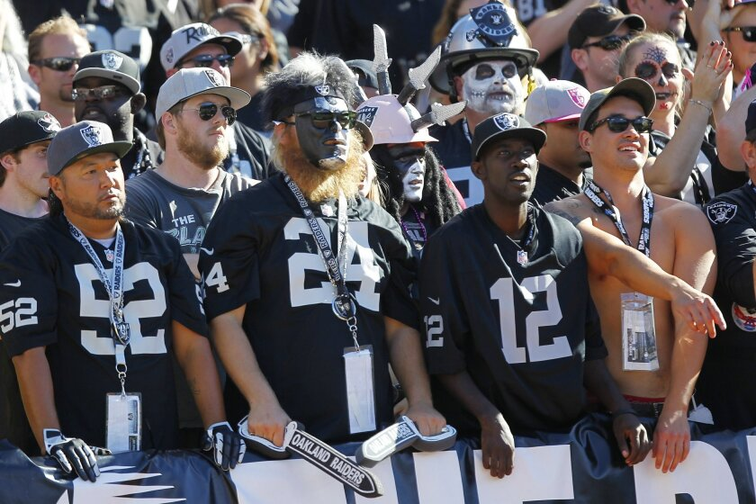 Raiders fans were disappointed during a loss to the Chargers.