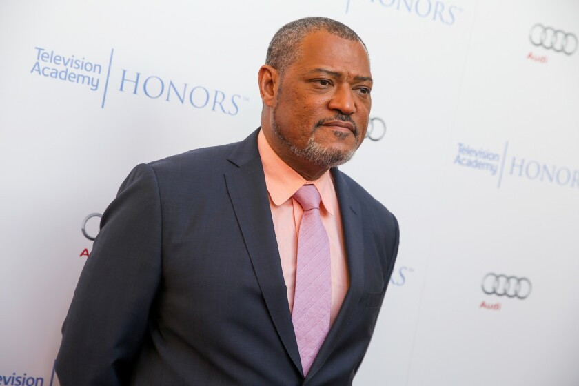 Laurence Fishburne arrives at the 2015 Television Academy Honors at the Montage Hotel in Beverly Hills in May 2015.