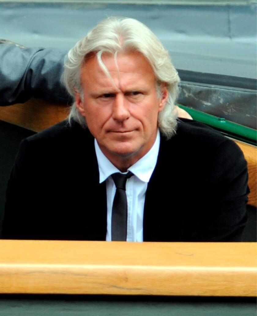 Imagen de archivo de la antigua estrella del tenis Björn Borg. EFE/Archivo