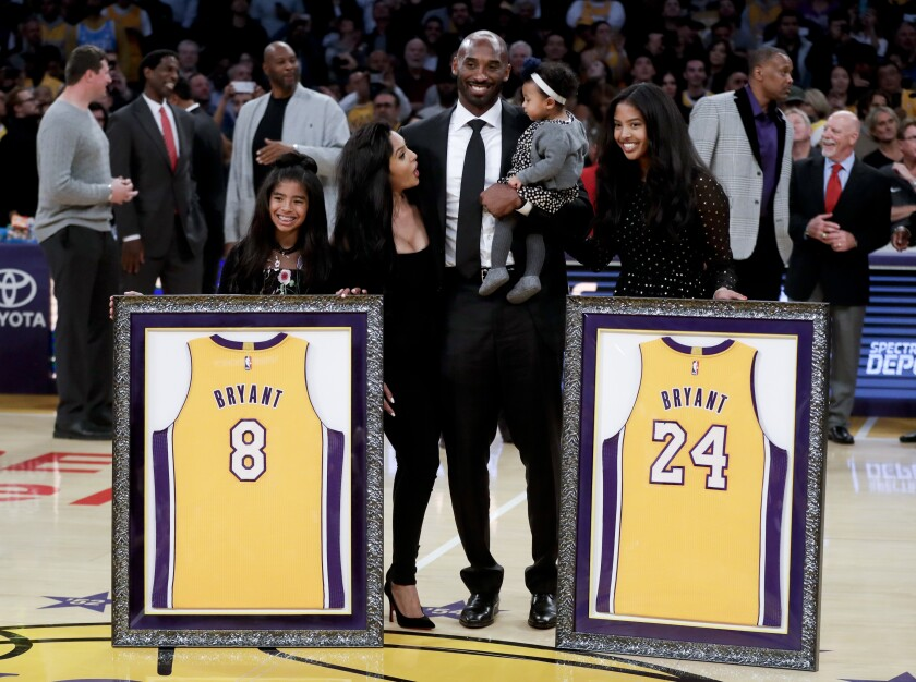 Image result for kobe bryant jerseys staples center""