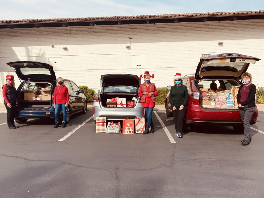 Del Sol Lions provided holiday gifts for 13 local families impacted by Covid-19.