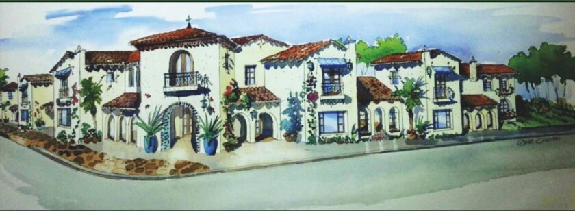A rendering of the Village Gateway project as seen from La Flecha and La Granada. Courtesy photo