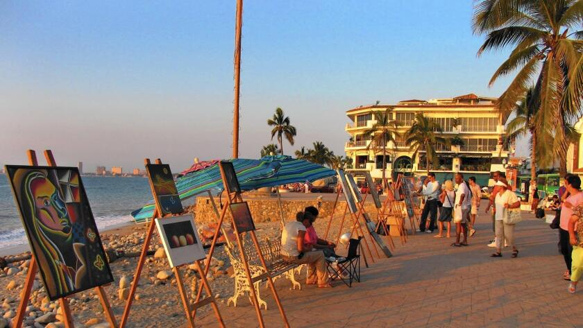 Mexico's Puerto Vallarta, which boasts oceanfront shopping along the Malecón, is a more affordable option to Cancún.