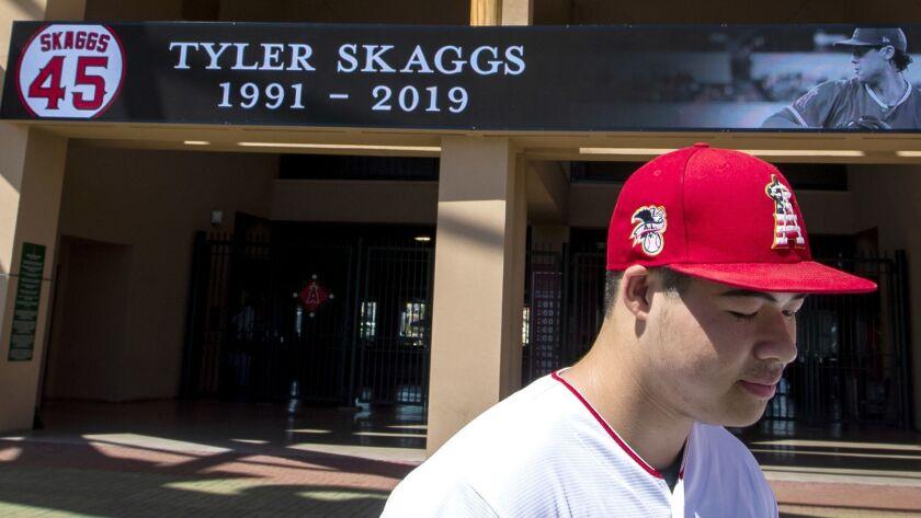 ANAHEIM, CALIF. -- MONDAY, JULY 1, 2019: Angels fan Reza Agahi, 18, of Anaheim, spends a quiet mome