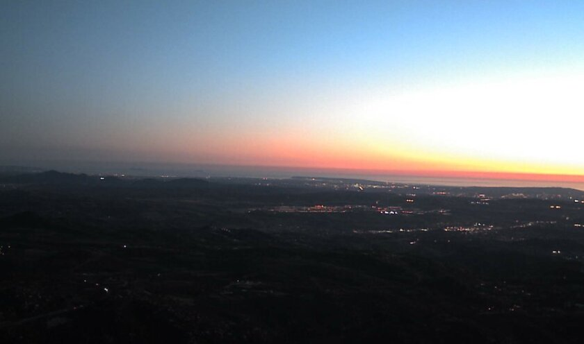 Day is done ... as seen from Mt. Woodson.