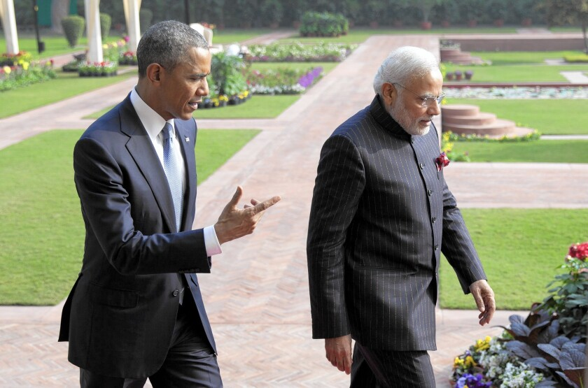 President Obama and Indian Prime Minister Narendra Modi exhibited a surprising rapport in New Delhi.