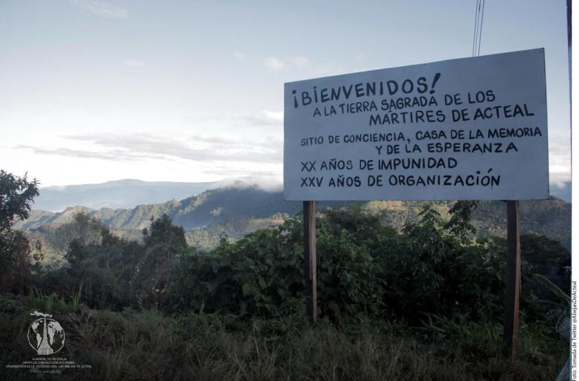 Hoy arrancaron las actividades para conmemorar la masacre de Acteal ocurrida hace 20 en el municipio de Chenalhó, Chiapas, en la que murieron 45 indígenas.