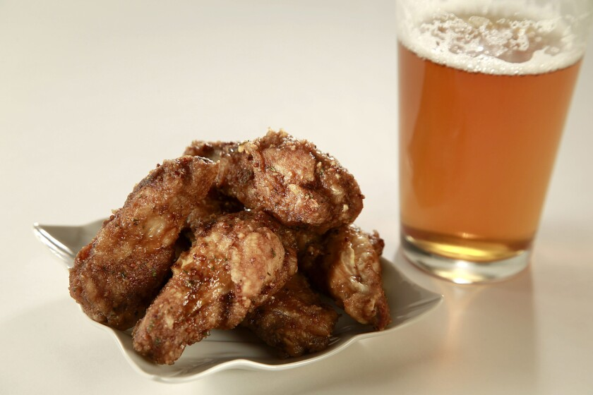 Cooking with beer for the super bowl: stout mustard wings.