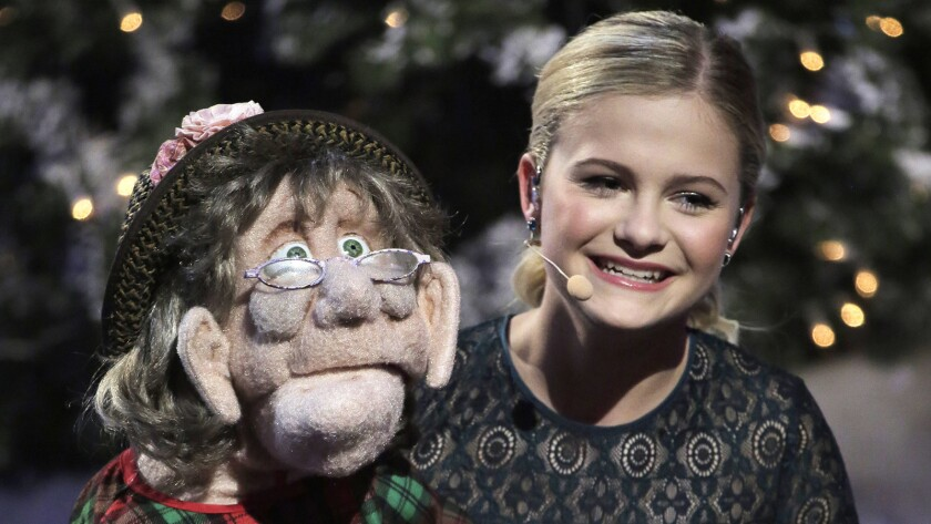 """The 12-year-old ventriloquist who won """"America's Got Talent"""" is featured in the new holiday special """"Darci Lynne: My Hometown Christmas"""" on NBC."""