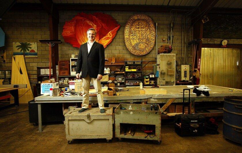 6.30.2015 --San Diego, CA_David Bennett, the new general director of the San Diego Opera photographed at the San Diego Opera Scenic Studio. MANDATORY CREDIT: San Diego Union-Tribune photo by John Gastaldo, ©2015. |
