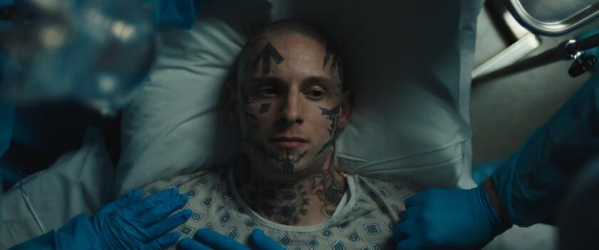 Jamie Bell in the movie 'Skin'