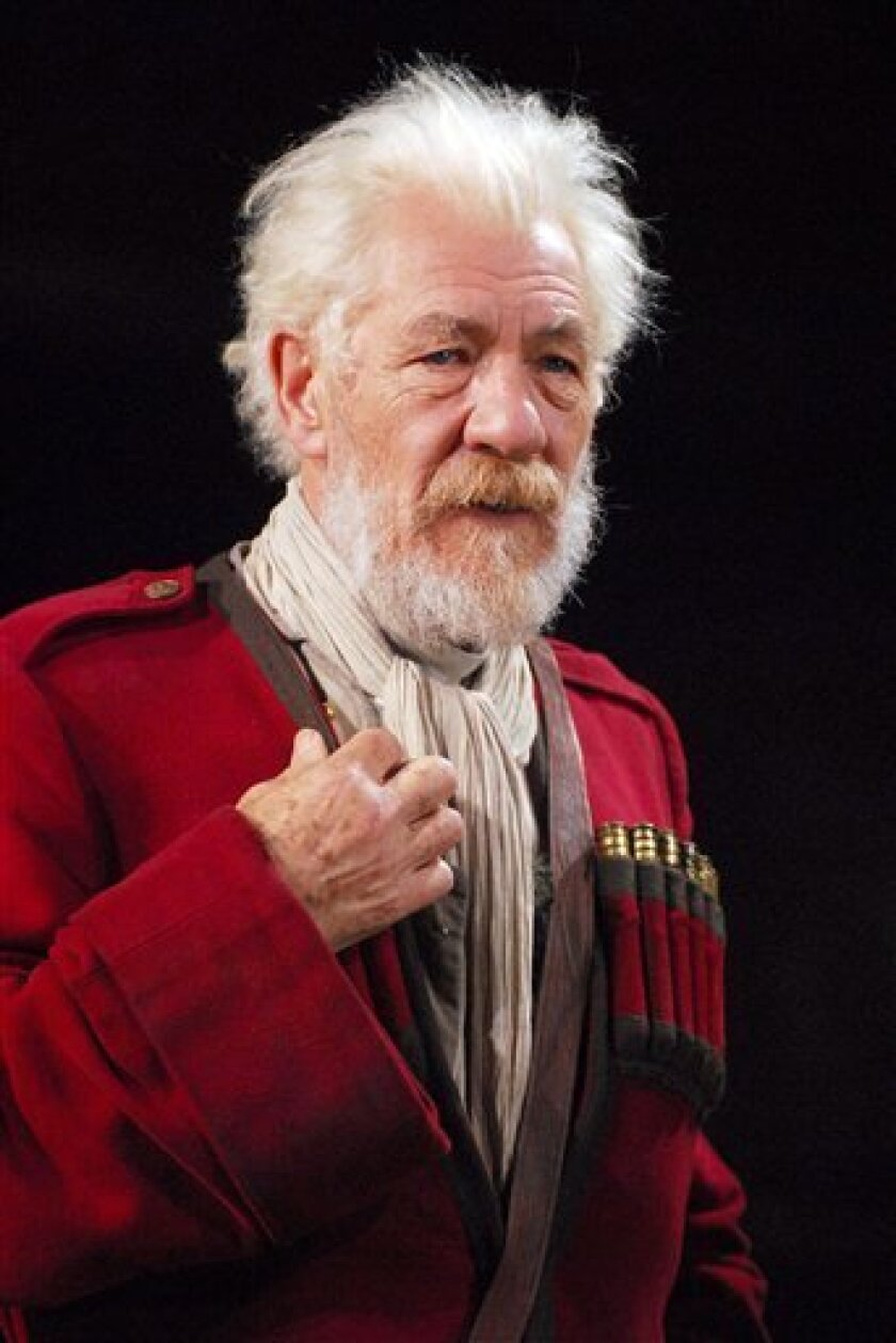 """In this 2007 file photo originally released by the Brooklyn Academy of Music (BAM), Ian McKellen, stars as the title character in the Royal Shakespeare Company production of  """"King Lear,'' at the Brooklyn Academy of Music in New York. (AP Photo/Brooklyn Academy of Music/Stephanie Berger, file)"""