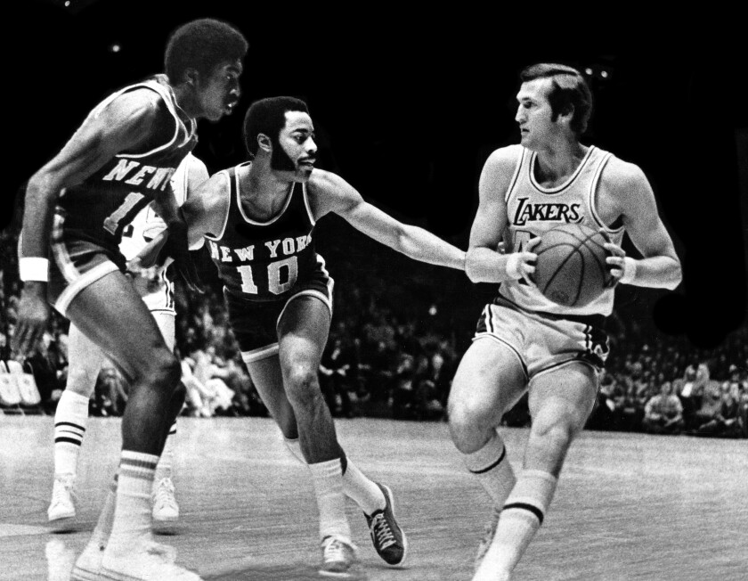 After losing seven times in the NBA Finals, including four series that went to a seventh game, Jerry West and the Lakers found redemption against the New York Knicks in 1972, winning the title in five games.