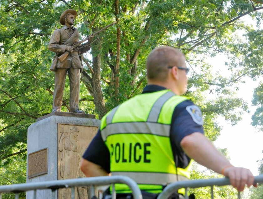 Protesters call for removal of Silent Sam Confederate statue