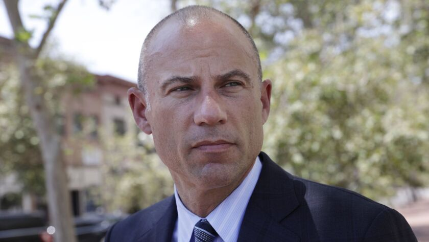 Michael Avenatti outside the Ronald Reagan Federal Courthouse in Santa Ana. Avenatti convinced a U.S. Bankruptcy Court judge to block reporters from covering his testimony about the settlement of his law firm's bankruptcy.