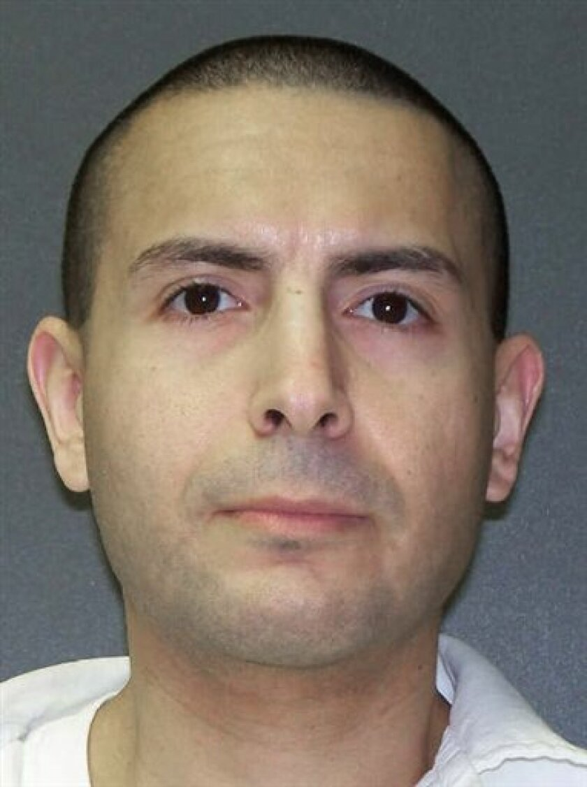 This undated handout photo released by the Texas Department of Criminal Justice shows death row inmate James Edward Martinez who was executed at the Texas prison in Huntsville, Tuesday, March 10, 2009. Martinez, 34, was convicted of a double slaying on Sept. 21, 2000, of his former girlfriend and h