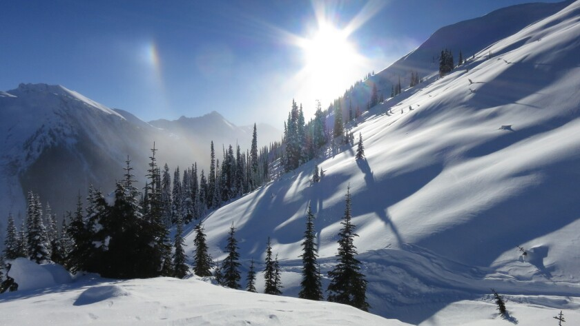 The pristine, powder-covered backcountry of BC'€™s Cariboo Mountains.