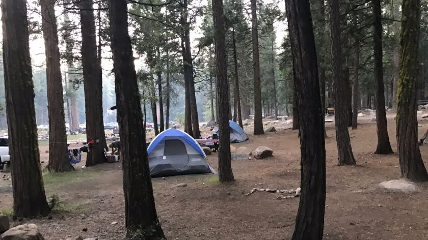 A Pinecrest Lake campground.