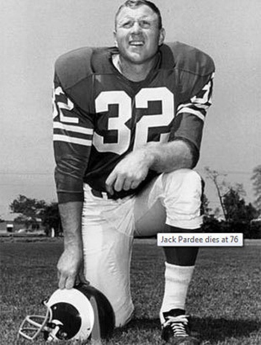 Jack Pardee dies at 76