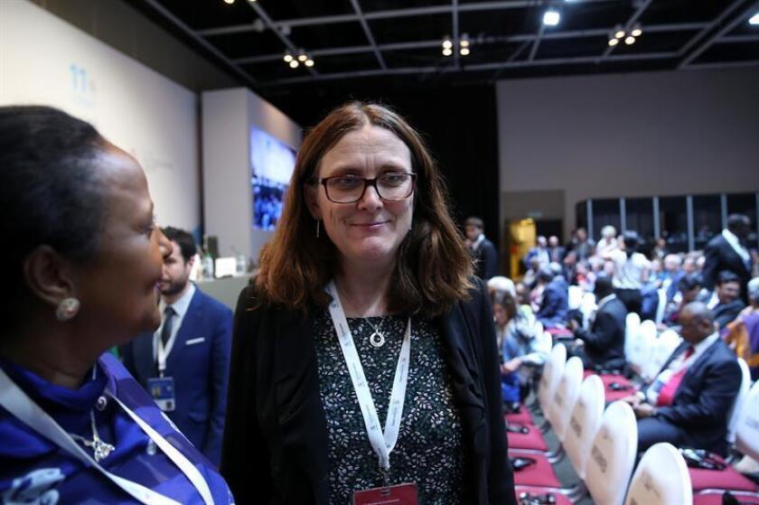 Cecilia Malmström (c), Comisaria de Comercio de la Unión Europea. EFE/Archivo