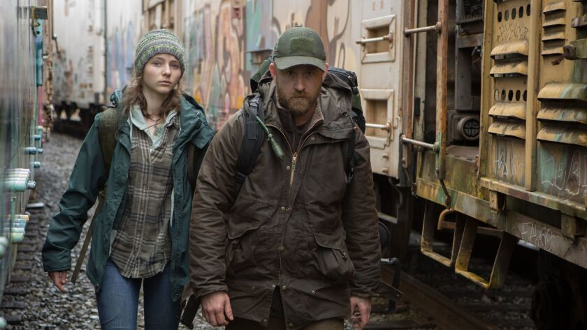 """Thomasin Harcourt McKenzie and Ben Foster in """"Leave No Trace."""""""