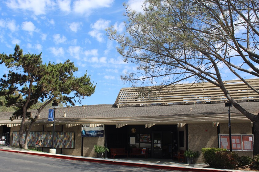 The entrance of Del Mar Hills Academy will be reimagined in the school's modernization project.