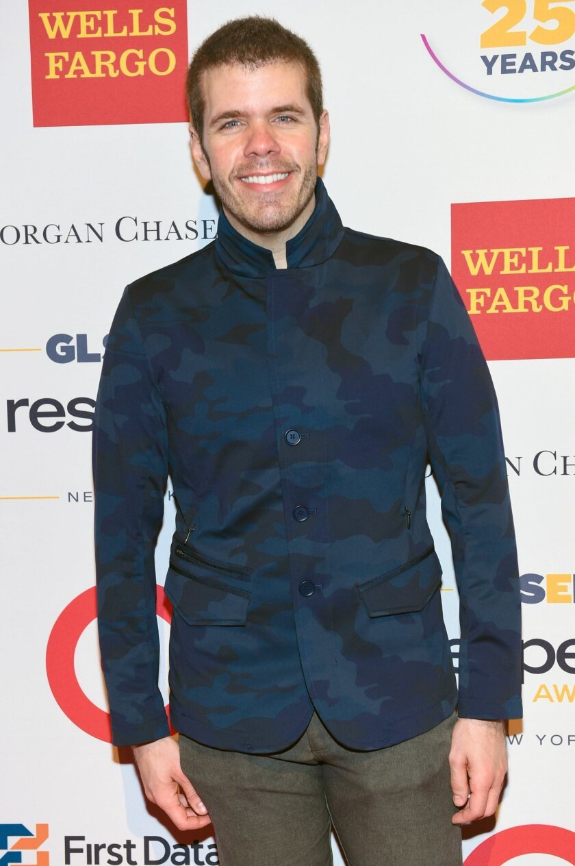 """FILE - In this June 1, 2015 file photo, Perez Hilton attends the 2015 GLSEN Respect Awards in New York. Hilton is starring in an unauthorized off-Broadway musical parody of the 90s sitcom """"Full House,"""" playing Danny Tanner. (Photo by Scott Roth/Invision/AP, File)"""