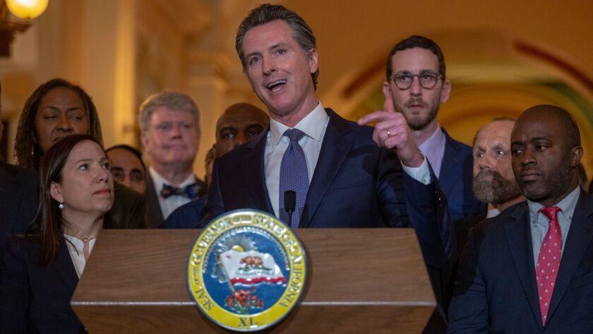 California Gov. Gavin Newsom signs a moratorium on California's death penalty, Sacramento, USA - 13 Mar 2019