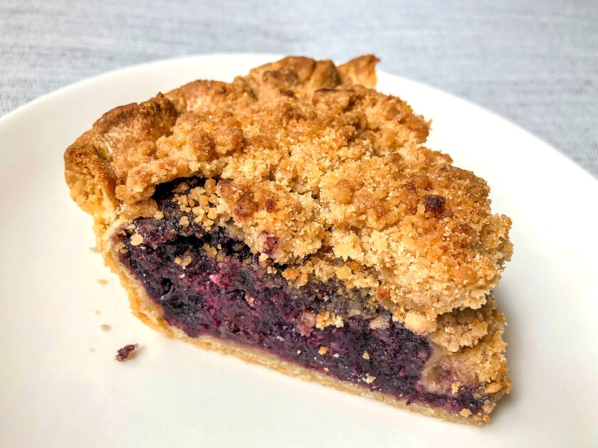 Blueberry crumble pie from Goldburger in Highland Park.