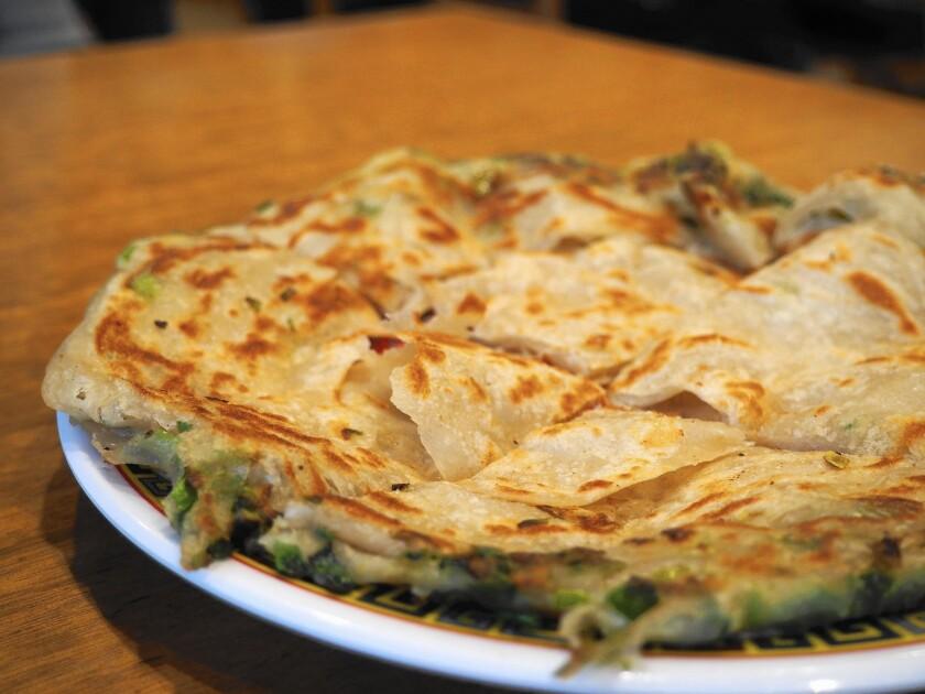 Scallion pancake from Mandarin Noodle House