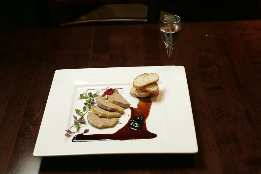 An example of the banned liver, foie gras.