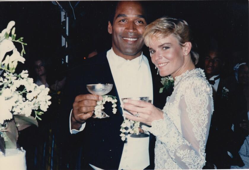 The wedding of O.J. Simpson and Nicole Brown Simpson.